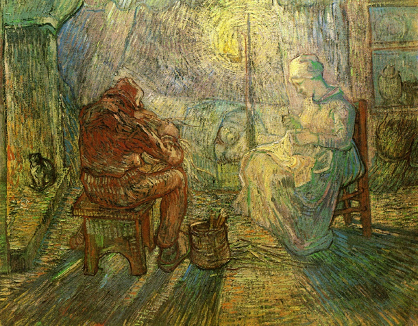 Vincent van Gogh | Evening (after Millet) | Credit: Van Gogh Museum, Amsterdam (Vincent van Gogh Foundation)