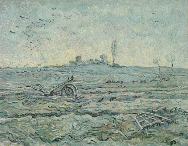 Vincent van Gogh | Snow-Covered Field with a Harrow (after Millet) | Credit: Van Gogh Museum, Amsterdam (Vincent van Gogh Foundation)