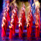 slightly stretched Babylonian dancers in Nabucco - l'Arena di Verona.